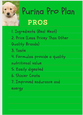 purina pro plan dog food - pros
