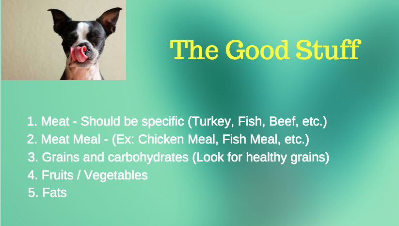 Good dog food ingredients