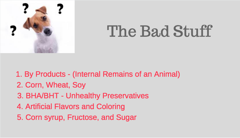 Bad Dog Food Ingredients
